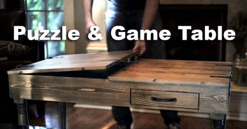 How To Build a Puzzle and Game Table