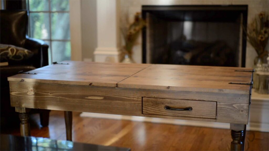 wooden puzzle coffee table