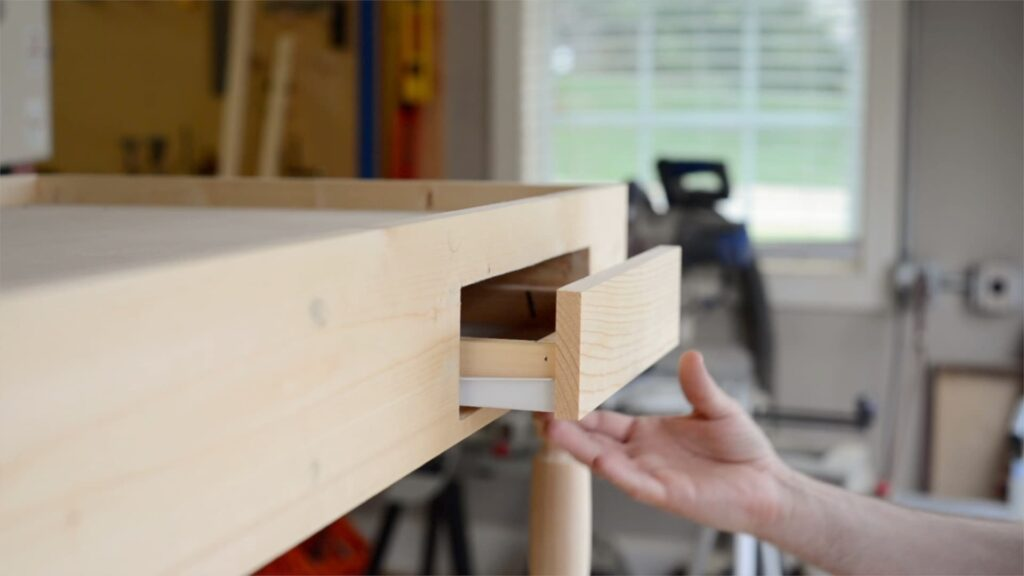 assembling drawers on the coffee table