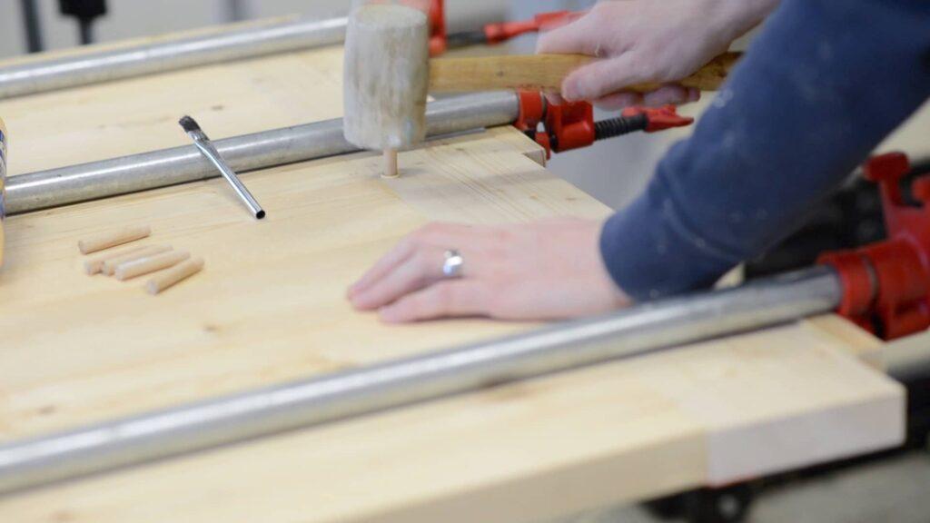 pinning breadboard ends