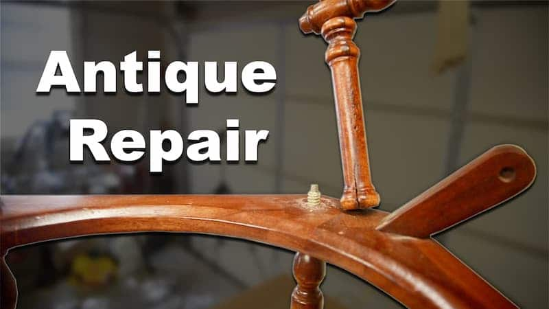 Repairing an Antique Wash Basin Stand