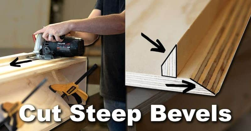 How To Cut a Bevel Greater Than 45 Degrees