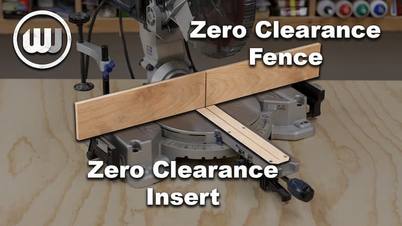 Miter Saw Upgrades – Zero Clearance Insert and Fence
