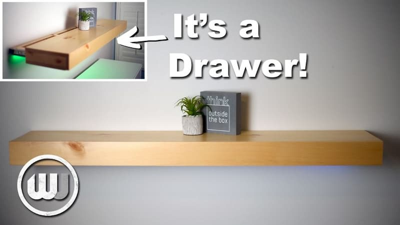 How to Make a Floating Shelf…That's Also a Hidden Drawer!