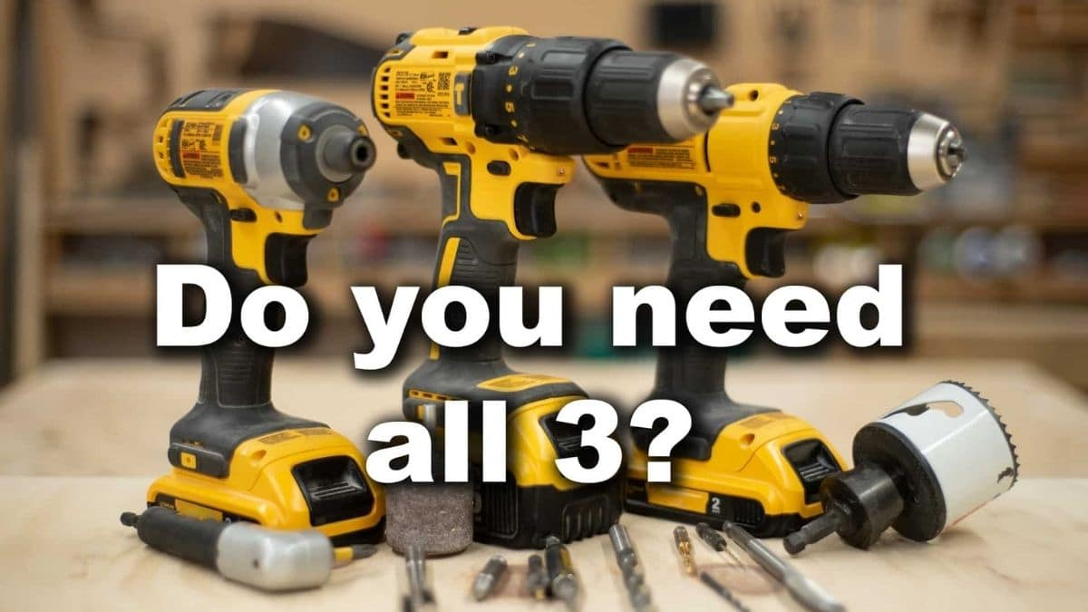 How to Use a Drill/Driver, Hammer Drill, and Impact Driver