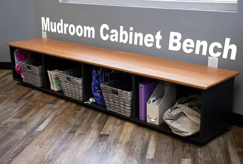 How to Make a Mudroom Cabinet Bench