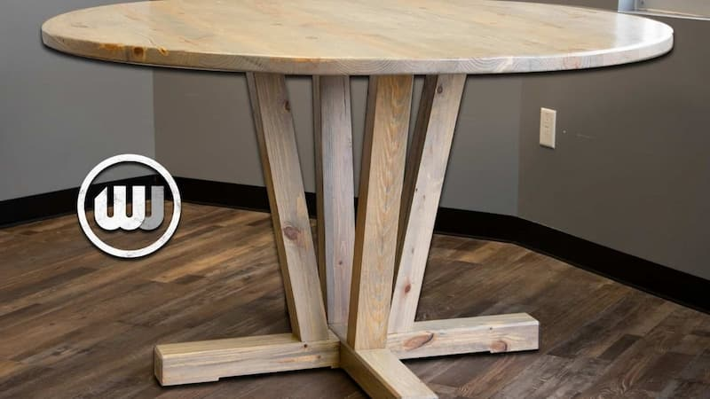 How to Build a Round Pedestal Dining Table