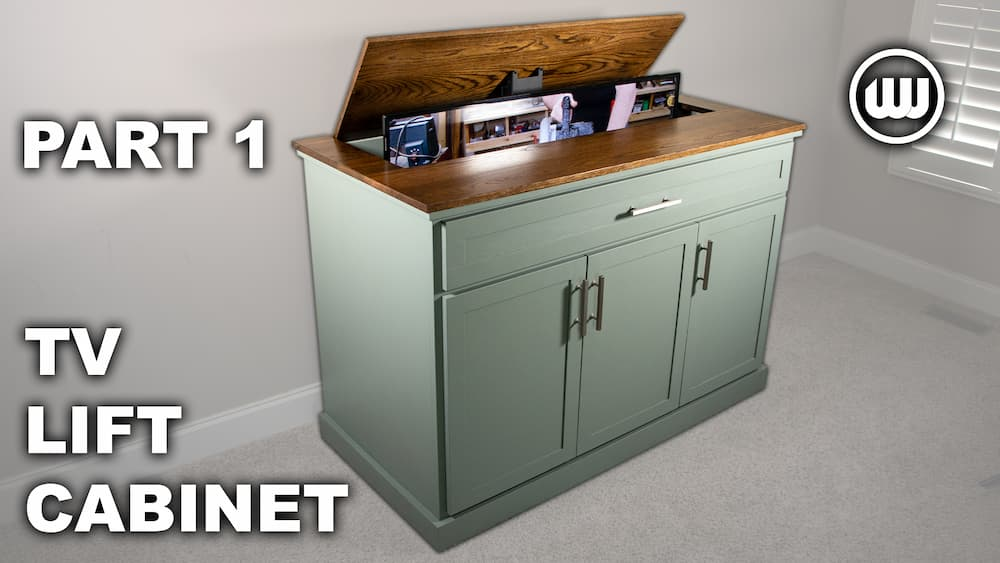How to Build a TV Lift Cabinet | Beginner Friendly Woodworking Project – Part 1