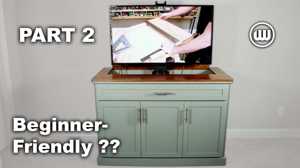 How to Build a TV Lift Cabinet – Part 2   Beginner-Friendly Woodworking Project